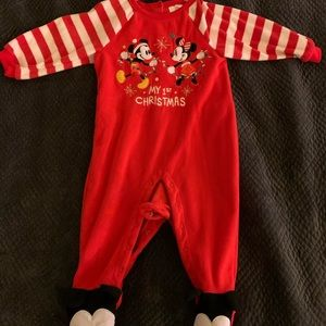 Disney My First Christmas Fleece Onesie